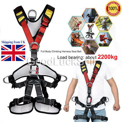 Fall Arrest Protection Rock Tree Climbing Full Body Safety Harness Equipment Uk