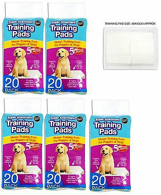 Pack of 6- 100 Super Absorbent Puppy Dog Training Pads 5 Absorbent Layer Pet Mat