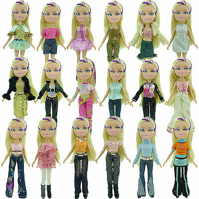 5x Random Dress Outfit Blouse + Trousers Skirt Casual Clothes For Bratz Doll #U