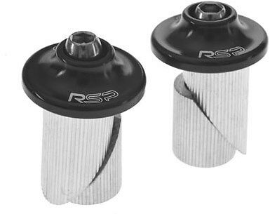 RSP Alloy Bike / Cycle Bar End Plugs 19mm Black