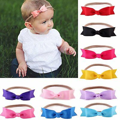 Cute Newborn Baby Girl Toddler Kids Bow Headband Hair Band Headwear Photo Props