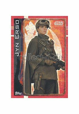 Topps Star Wars - Rogue One - 170 - Jyn Erso - Holo