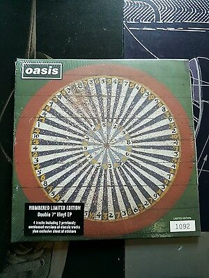 """oasis  stop the clocks e.p   2 x 7"""" vinyl singles numbered 1092 mint / sealed"""