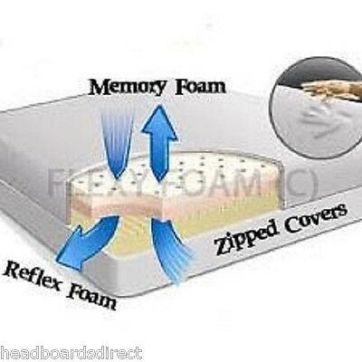 Memory Foam Orthopaedic Matress Double 4Ft6 5Ft King Size - Free Cover