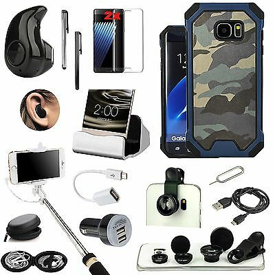 14 x Case Cover Bluetooth Earphones Monopod Lens Charger For Samsung Galaxy S7
