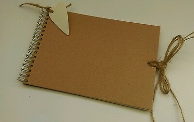 small scrapbook for decoration kraft cream pages A5 rustic memory book guestbook