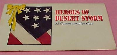 Heroes of Desert Storm-$5 Comm. Coin-Issued by Republic of Marshall Is.-11148C