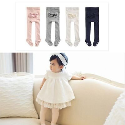 Baby Toddler Kids Girls Soft Cotton Warm Tights Pantyhose Stockings Socks Pants