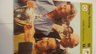 Rare Rencontre Sportscaster Card Horse Racing Willie Shoemaker
