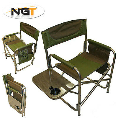 NGT Syndicate Chair with Side Tray & Organiser, Great for Carp Fishing & Camping