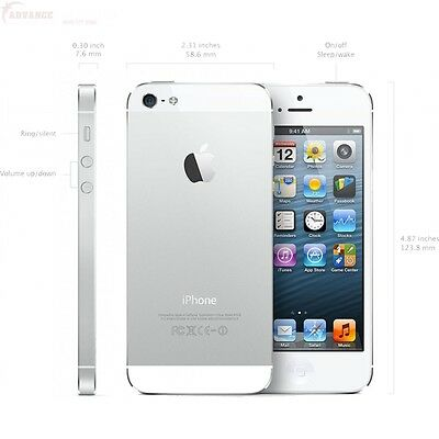 New Overstock Apple iPhone 5s 64GB Silver Factory GSM Unlocked for ATT T-Mobile