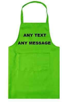 Personalised Apron Adult Catering Kitchen Wear Any Name, Text, Colour