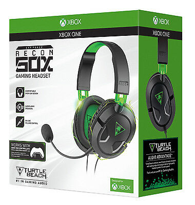Turtle Beach Ear Force Recon 50X Headset Wired Gaming (Xbox One, New)
