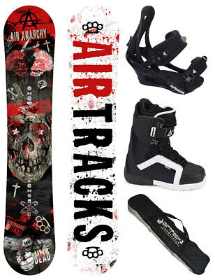 AIRTRACKS Snowboard Set Air Anarchy Rocker+Bindung+Boots+Bag+Pad /152 156 159 cm