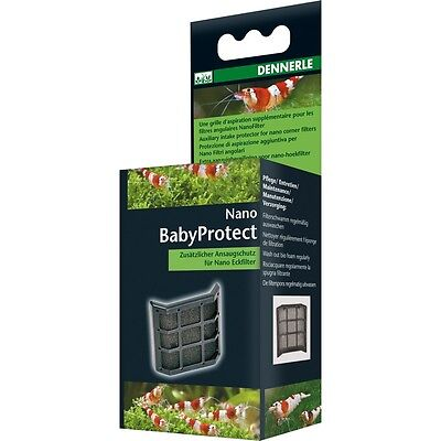 DENNERLE NANO BABY PROTECT Cover Corner Filter Shrimp Safe Crystal Red Cherry