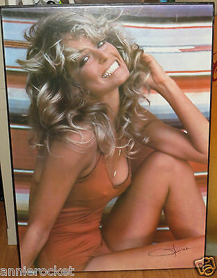 "Farrah Fawcett Charlie's Angel Red Swimsuit Laminated Poster-20"" X 28"" -1976"