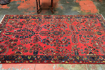 "Antique Persian Rug 4'5"" x 8'1"" Super Fine Mehriban c.1930"