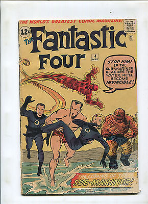 Fantastic Four #4 (2.5-3.0) 1St Silver Age Submariner