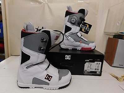 DC Shoes Men's Gizmo Snowboard Boots BOA System White/Gray Size 8 M (21722)