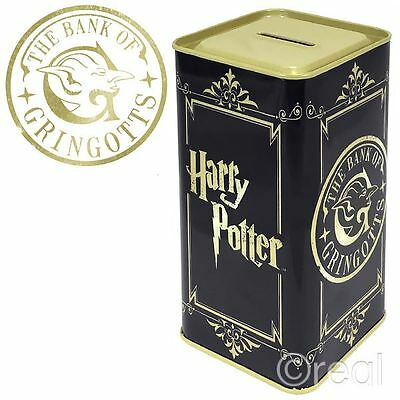 New Harry Potter The Bank Of Gringotts Tall Money Tin Piggy Bank Box Official