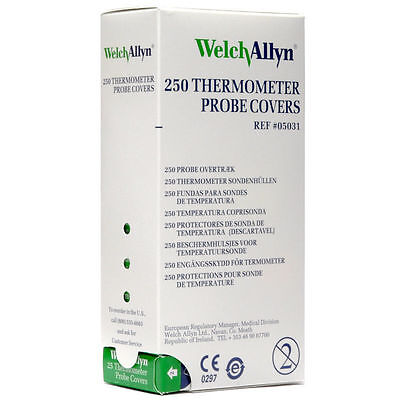 Welch Allyn SureTemp Thermometer Probe Covers 250/box REF: 05031