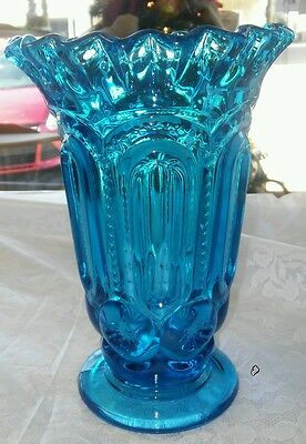 Blue Moon and Star Ruffle Top Vase