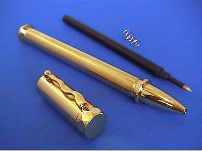 Woodturning Pen Kits - MAGNETIC CAP pen -  Gold or Chrome - or Bushes