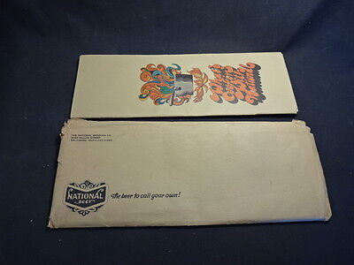 Old Vtg The National Brewing Co What's Cookin' With National Cookbook Envelope