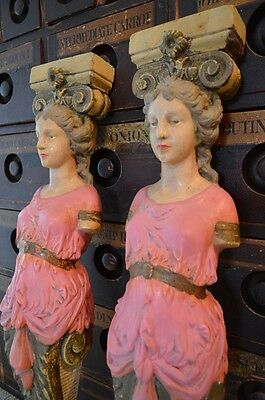 Beautiful Pair Of French Figure Head Corbels