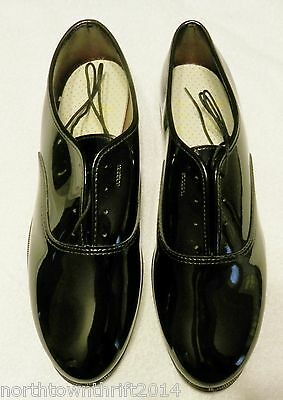 Mens Black Patent Leather Formal Wedding Dress Oxford Shoes Size 12WW