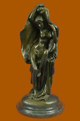 Signed Original Contemporary, Hand-Cra Statue Figurine Bronze Sculpture Figure