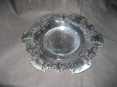 Vintage Krome-Kraft Farber Bros Pierced Chrome Round Serving Tray