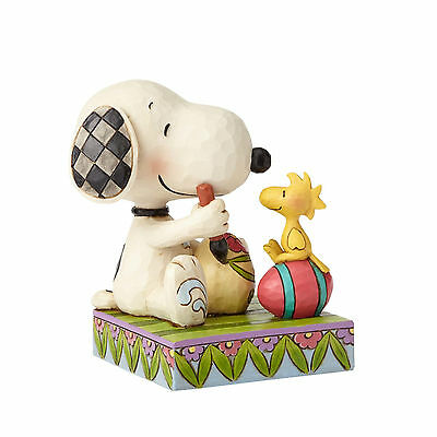 Jim Shore Peanuts Snoopy & Woodstock Easter Eggs Colorful Tradition 2017 4055653