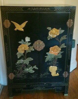 Chinese antique black lacquer cabinet
