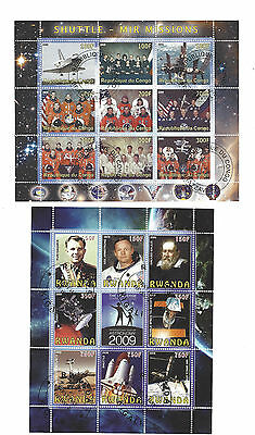 stamp sheet cto SPACE ASTRONOMY SHUTTLE * 2