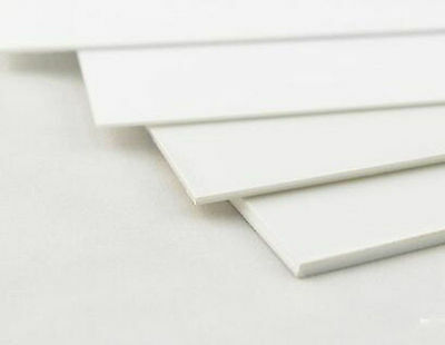 1 pcs ABS Styrene Plastic Flat Sheet Plate 0.5mm x 100mm x 100mm, white