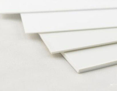 1 pcs ABS Styrene Plastic Flat Sheet Plate 0.5mm x 200mm x 200mm, white
