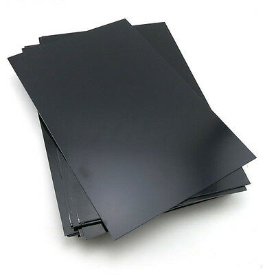 1 pcs ABS Styrene Plastic Flat Sheet Plate 1mm x 200mm x 300mm, Black