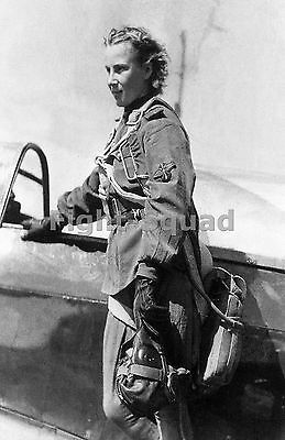 WW2 Picture Photo Soviet pilot Lydia Litvyak First female fighter ace 1480