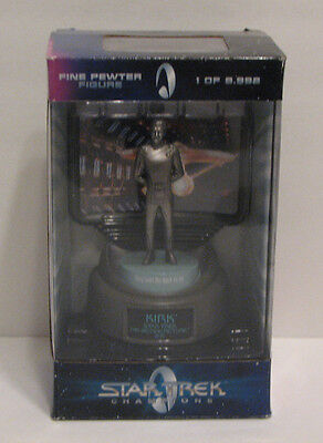 Collectible Star Trek Champions Fine Pewter Figure Captain Kirk NEW