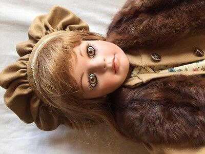 """Porcelain 33"""" hand crafted doll. LE1/15 Gladys Benson"""