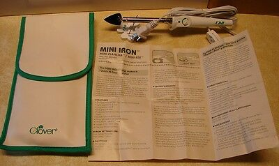 Clover Mini Iron Model MCI-900 w/Cooling Tote Bag Instruction Sheet & Stand/Rest