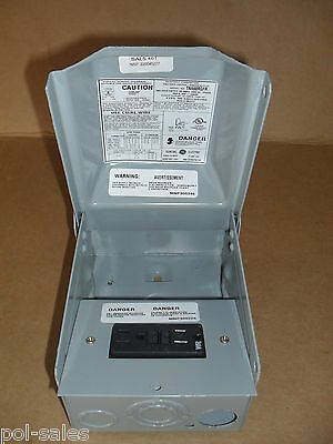GE RainProof Enclosed Power Outlet 60amp/ 240AC /1 Phase Type 3R ~ NEW ~