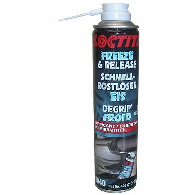 Loctite Freeze & Release Spray for all rusty nuts & bolts