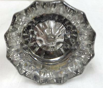 Antique / VINTAGE 12 Point Glass / Crystal and Brass Door Knob
