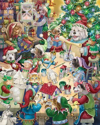 North Pole Pets Jigsaw Puzzle 1000 Piece by Vermont Christmas Company, TYCX, CXX
