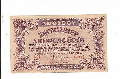 Hungary note from 1946. ADOPENGOROL.!!