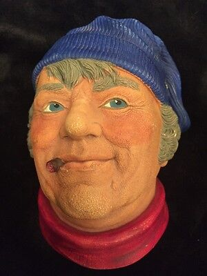 1984 Fisherman By Legend Products Made In England Chalkware Head F Wright