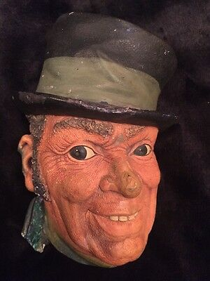 """Vintage 1962 Bossons England """"Paddy"""" Chalkware Head Like Legend Products"""