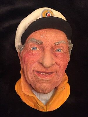 Vintage Skipper Made In England Chalkware Head Looks Like By Legend Products